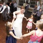 Bride dancing with the kids