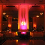 Full Room Uplighting with Lighting Fixtures