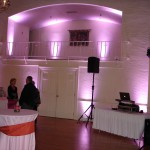 Wedding DJ Setup With Uplighting